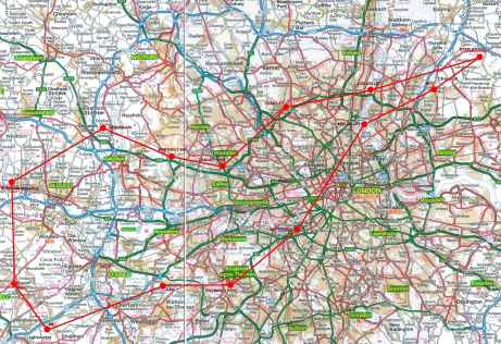 London SVFR Route Road Map