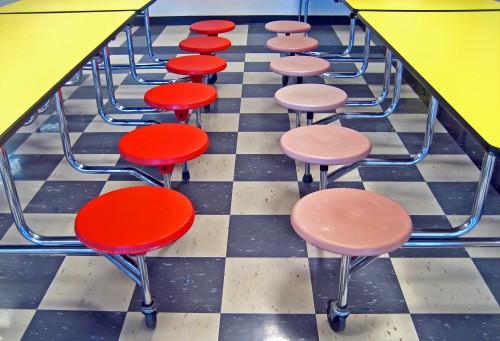 school cafeteria seats